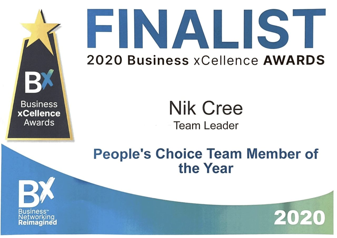 Bx Award Nik Cree People's Choice Team Member Of The Year Finalist 2020