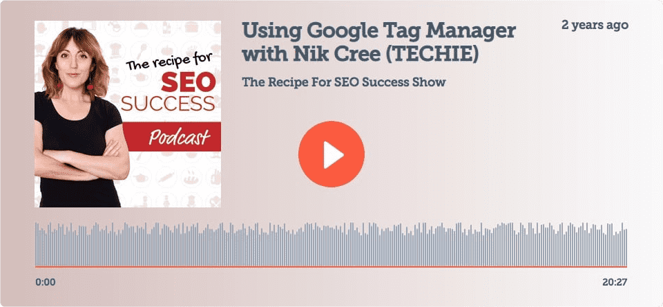 Nik Cree on The Recipe For SEO Podcast With Kate Toon