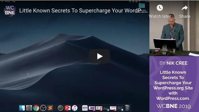 WCBNE 2019 Supercharge Your WordPress Site